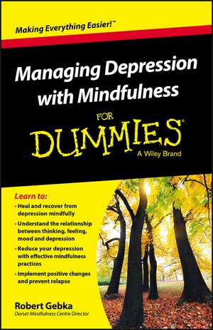 Managing Depression with Mindfulness for Dummies