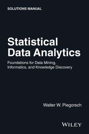 Statistical Data Analytics