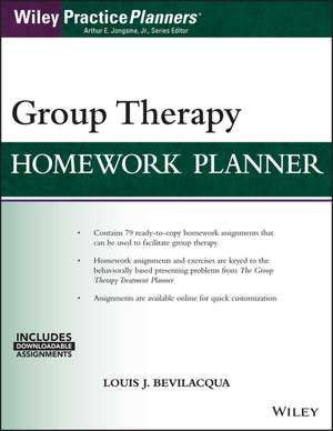 Group Therapy Homework Planner