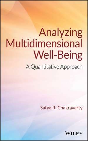 Analyzing Multidimensional Well–Being