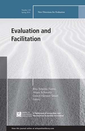 Evaluation and Facilitation, EV 149