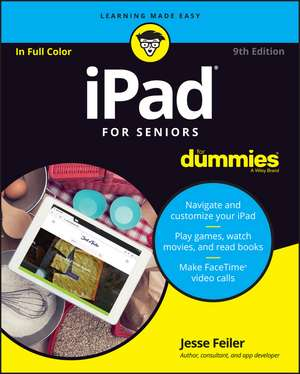 iPad For Seniors For Dummies de Jesse Feiler
