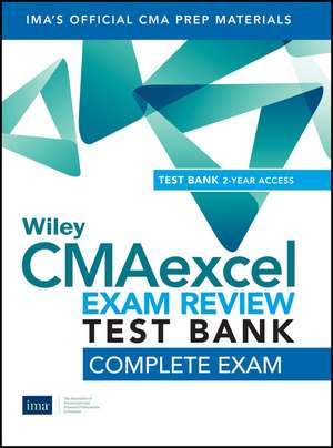 Wiley CMAexcel Learning System Exam Review 2020 Test Bank: Complete Exam (2–year access) de IMA