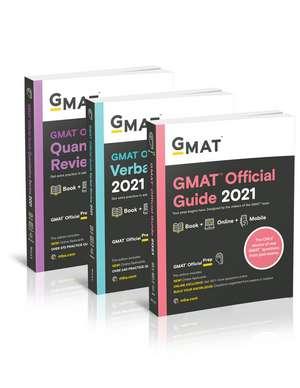 GMAT Official Guide 2021 Bundle: Books + Online Question Bank de GMAC (Graduate Management Admission Council)