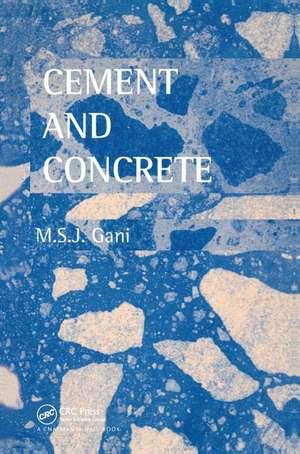Cement and Concrete de M.S.J Gani