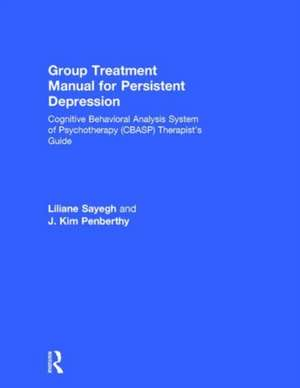 Group Treatment Manual for Persistent Depression