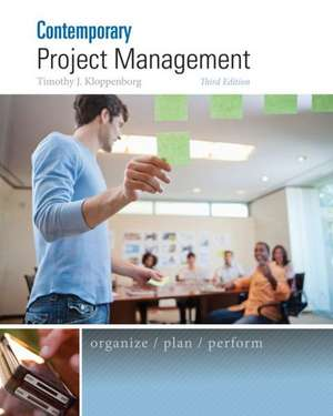 Contemporary Project Management de Timothy Kloppenborg