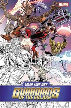 Color Your Own Guardians of the Galaxy de Marvel Comics