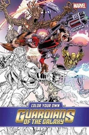 Color Your Own Guardians Of The Galaxy de Valerio Schiti