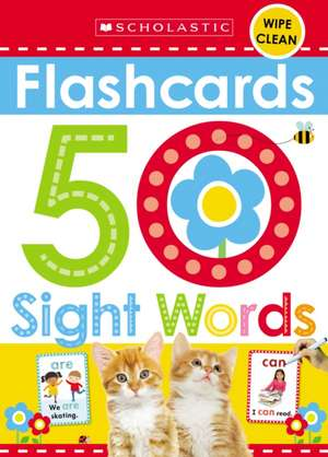 Flashcards - 50 Sight Words (Scholastic Early Learners) de  Scholastic