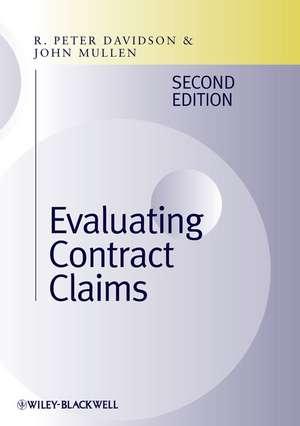 Evaluating Contract Claims de R. Peter Davison