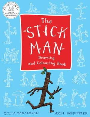 Stick Man Drawing and Colouring Book