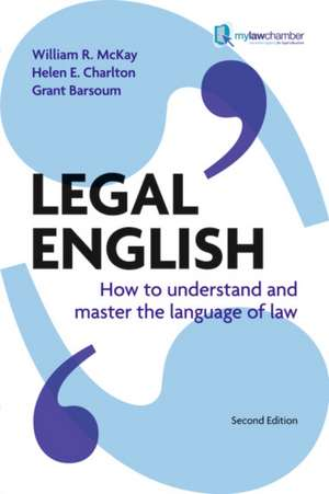 Legal English de William McKay