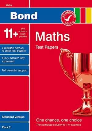 Lindsay, S: Bond 11+ Test Papers Maths Standard Pack 2