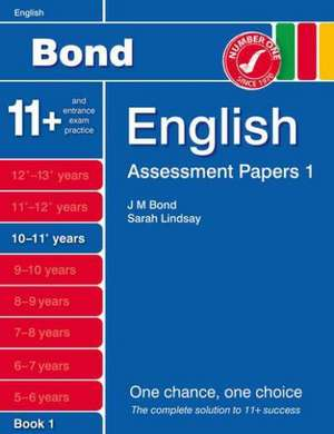Bond Assessment Papers English 10-11+ yrs Book 1