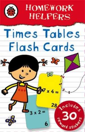 Ladybird Homework Helpers: Times Tables flash cards