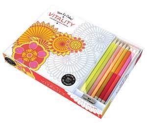 Vive Le Color! Vitality:  Color Therapy Kit [With Pens/Pencils] de Abrams Noterie