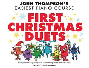 First Christmas Duets: 1 Piano, 4 Hands/Elementary Level de John Thompson