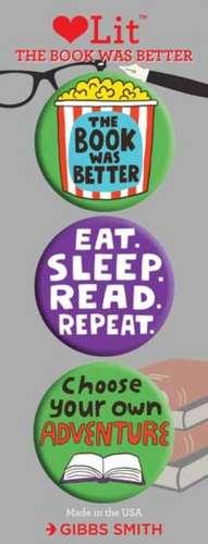 Gibbs-Smith, G: The Book was Better 3 Badge Set de Gibbs-Smith Gibbs-Smith