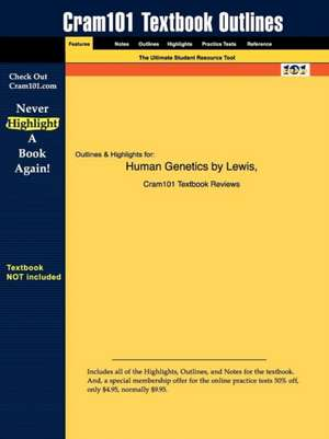 Studyguide for Human Genetics by Lewis, ISBN 9780072951745 de 6th Edition Lewis
