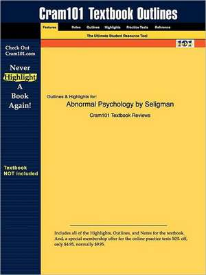Studyguide for Abnormal Psychology by Seligman, ISBN 9780393944594 de 4th Ed Seligman and Walker and Rosenhan