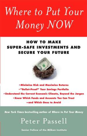 Where to Put Your Money Now de Peter Passell
