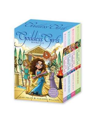 Goddess Girls Books #1-4 (Charm Bracelet Inside!):  Athena the Brain; Persephone the Phony; Aphrodite the Beauty; Artemis the Brave de Joan Holub
