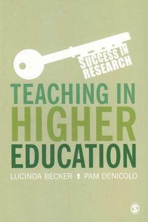 Teaching in Higher Education de Lucinda Becker