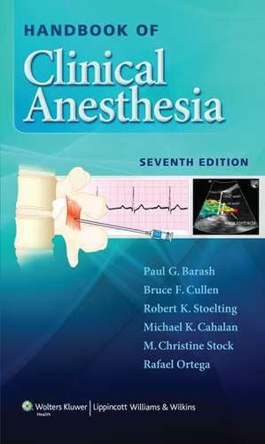 Handbook of Clinical Anesthesia de Paul G. Barash