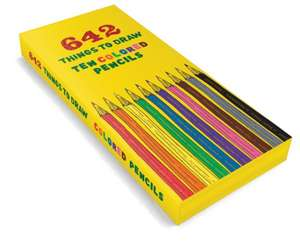 "Creioane colorate ""642 Things to Draw""  de Chronicle Books"