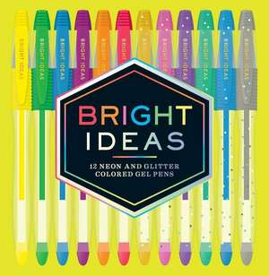 Bright Ideas Neon and Sparkle Gel Pens de Chronicle Books