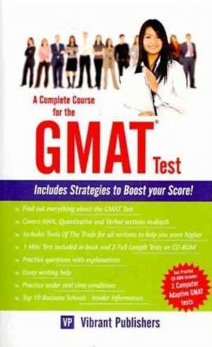Complete Course for the GMAT Test de Vibrant Publishers
