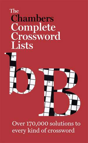 The Chambers Crossword Lists - New Edition de  Chambers