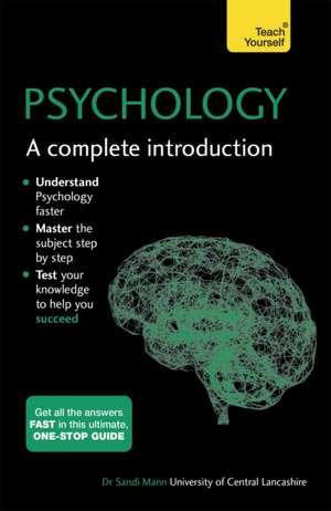 Psychology:  A Complete Introduction de Sandi Mann