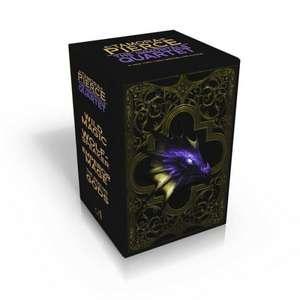 The Immortals Quartet:  Wild Magic; Wolf-Speaker; Emperor Mage; The Realms of the Gods de Tamora Pierce
