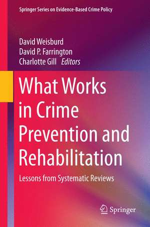 What Works in Crime Prevention and Rehabilitation: Lessons from Systematic Reviews de David Weisburd
