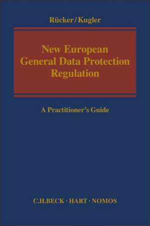 New European General Data Protection Regulation: A Practitioner's Guide de Daniel Rücker