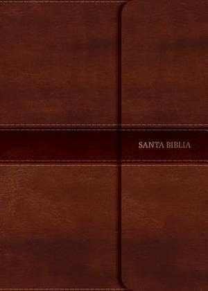 NVI Biblia Compacta Letra Grande Marron, Simil Piel Con Indice y Solapa Con Iman de B&h Espanol Editorial