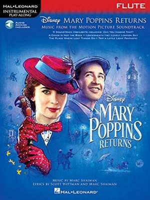 Mary Poppins Returns for Flute: Instrumental Play-Along Series de  Hal Leonard Corp