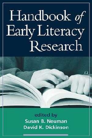 Handbook of Early Literacy Research, Volume 1 de Susan B. Neuman