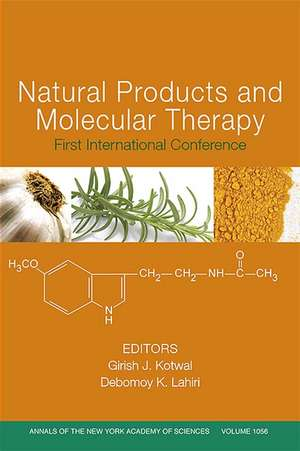 Natural Products and Molecular Therapy: First International Conference, Volume 1056 de Girish J. Kotwal