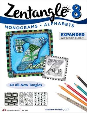 Zentangle 8:  Monograms * Alphabets de CZT Suzanne McNeill