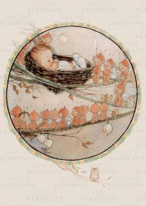 Baby Watched by Fairies - Greeting Card de Mabel Lucie Attwell