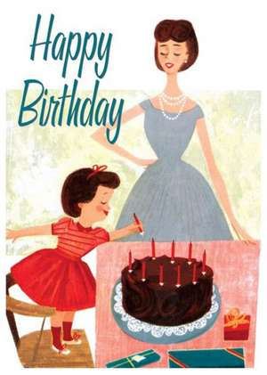 Fixing the Cake Birthday Card de Laughing Elephant