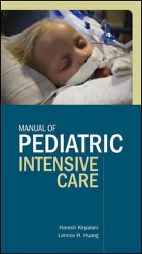 Manual of Pediatric Intensive Care