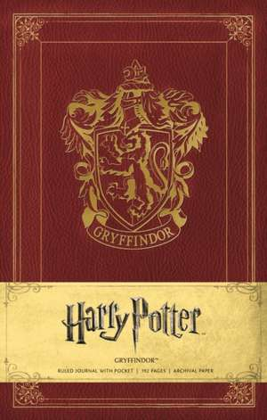 Harry Potter Gryffindor Hardcover Ruled Journal de Warner Bros.