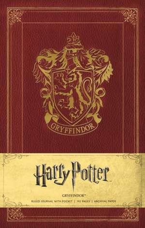 Harry Potter Gryffindor Hardcover Ruled Journal de Warner Bros.
