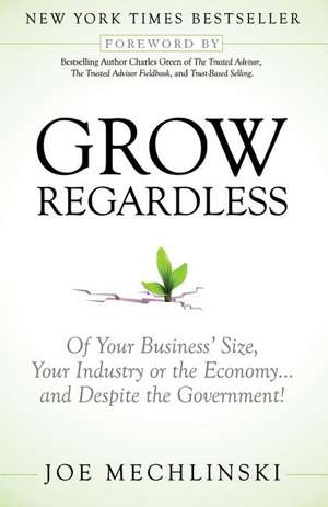 Grow Regardless:  Of Your Business' Size, Your Industry or the Economy and Despite the Government! de Joe Mechlinski