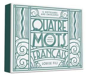 Quatre Mots Francais Notecards