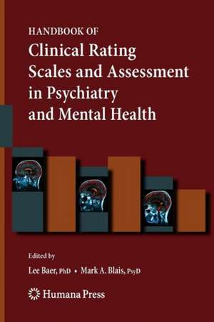 Handbook of Clinical Rating Scales and Assessment in Psychiatry and Mental Health de Lee Baer